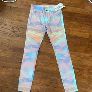PISTOLA Tie Dye Look Jeans Orange Purple 27